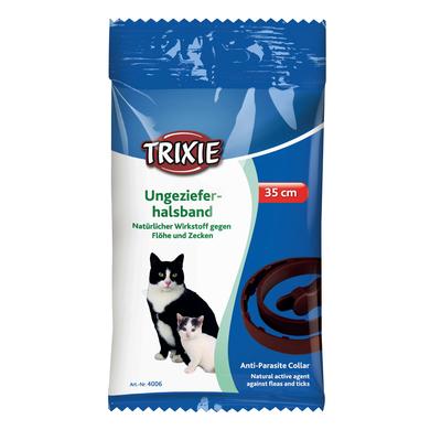 TRIXIE Ungezieferhalsband gegen Zecken und Flöhe für Katzen