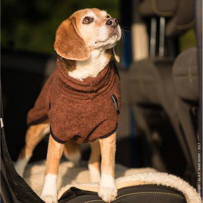 Trockenmantel für Hunde fit4dogs Dryup Mini, braun - 35 cm