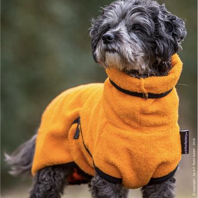 Trockenmantel für Hunde fit4dogs Dryup Mini, orange - 35 cm