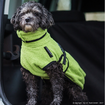 Trockenmantel für Hunde fit4dogs Dryup Mini, grün - 40 cm