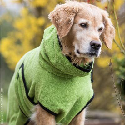 Trockenmantel Hund fit4dogs Dryup Cape, grün - S: 58 cm