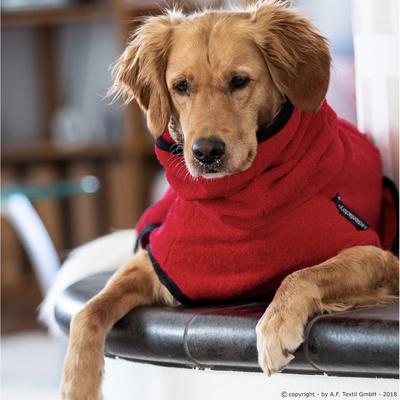 Trockenmantel Hund fit4dogs Dryup Cape, rot - XXL: 75 cm