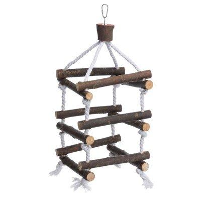 TRIXIE Turm mit Tauen aus Naturholz für Vogelkäfig Preview Image