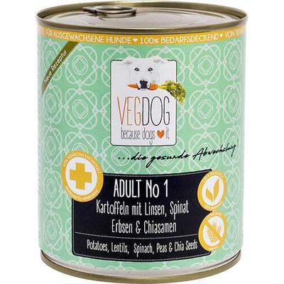VEGDOG Adult No. 1 veganes Hundefutter, 6 x 800g