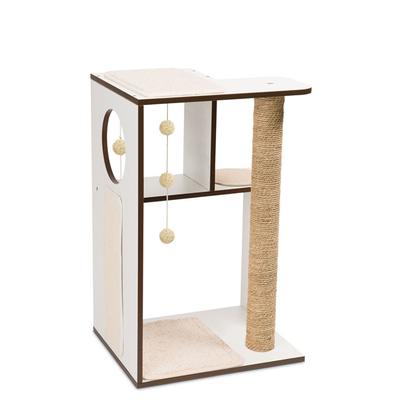 Vesper V-Box Large Katzen Spielmöbel, 50x50x76 cm, Weiß