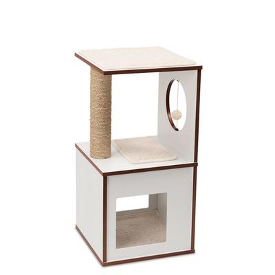 Vesper V-Box Small Katzenmöbel, Weiß, 37x37x72cm