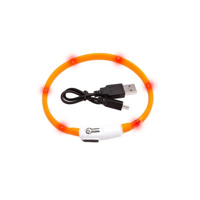 Visio Light Leuchthalsband für Katzen und kleine Hunde, 35 cm, orange