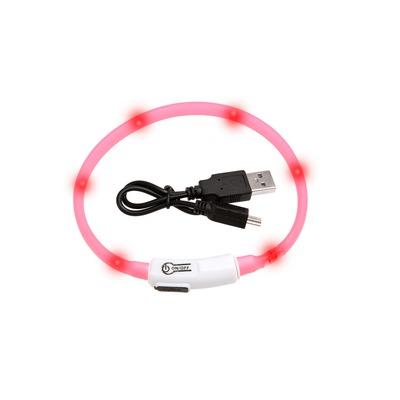 Visio Light Leuchthalsband für Katzen und kleine Hunde, 35 cm, pink