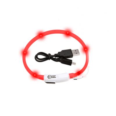 Visio Light Leuchthalsband für Katzen und kleine Hunde, 35 cm, rot