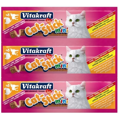Vitakraft Cat Stick im 3er Pack, Truthahn & Lamm