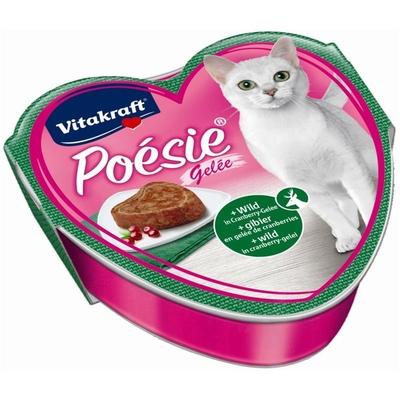 Vitakraft Poésie Katzenfutter, Gelée Wild + Cranberry 85 g Schale