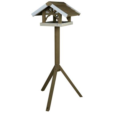 Vogel Futterhaus mit Ständer grau