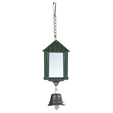 TRIXIE Vogel Spiegelampel mit Glocke und Kette