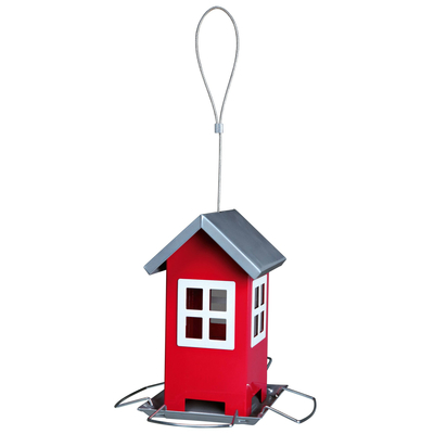 Vogelfutterhaus aus Metall