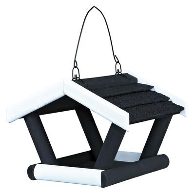 TRIXIE Vogelfutterhaus zum Hängen schwarz/weiß