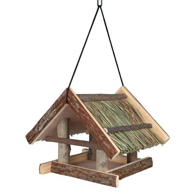 TRIXIE Vogelhäuschen mit Grasdach zum Aufhängen