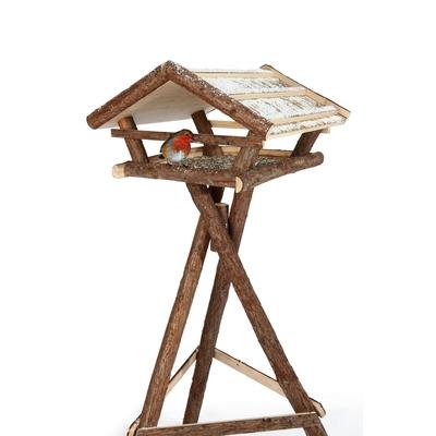 Vogelhaus Naturholz mit Ständer