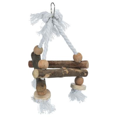 Vogelschaukel, dreieckig, Naturholz