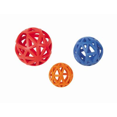Vollgummi Gitterball Hundespielzeug