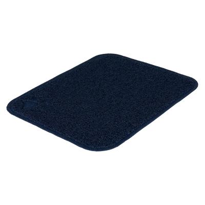 Vorleger aus PVC für  Katzentoiletten, 37 × 45 cm, dunkelblau