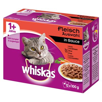 Whiskas Frischebeutel saftige Häppchen in Sauce Katzenfutter