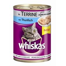 Whiskas Adult 1+ -  Dosen Katzenfutter, 12x400g, Terrine mit Geflügel