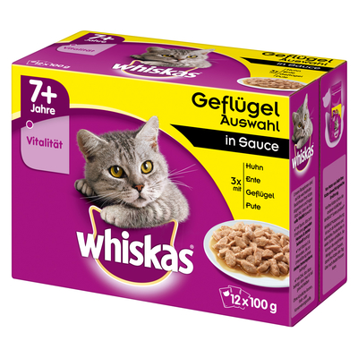 Whiskas Portionsbeutel Multipack 7+ Senior Katzenfutter