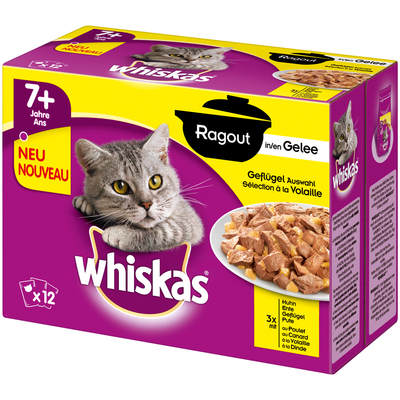 Whiskas Portionsbeutel Senior 7+ - Ragout in Gelee