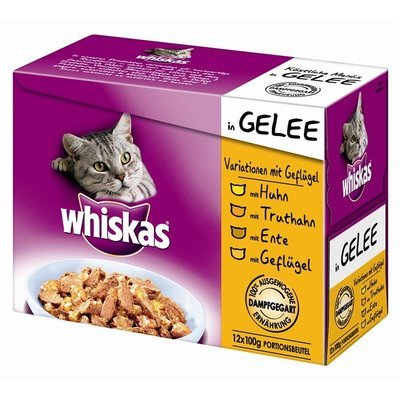 Whiskas Portionsbeutel zarte Stücke in Gelee Katzenfutter
