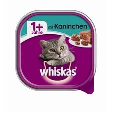 Whiskas Adult 1+ Katzenfutter in Schale, mit Kaninchen 32x100g