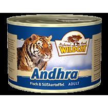 Wildcat Andhra Katzenfutter Nassfutter Dosen, 6 x 200g mit Fisch & Süßkartoffel