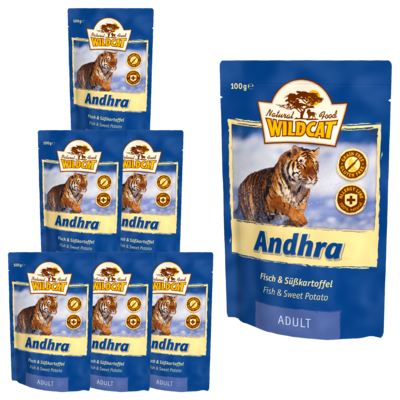 Wildcat Andhra Nassfutter Pouches, 7x100 g