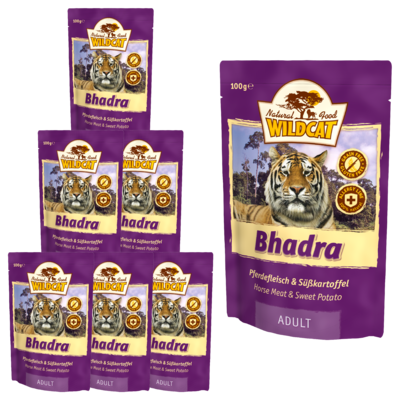 Wildcat Bhadra Nassfutter Pouches, 7x100 g