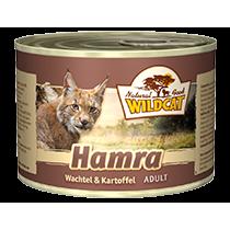 Wildcat Hamra Katzenfutter Nassfutter Dosen, 6 x 200g mit Wachtel & Kartoffel