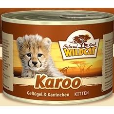 Wildcat Karoo KITTEN Katzenfutter Nassfutter Dosen, 6 x 200g mit Geflügel & Kaninchen