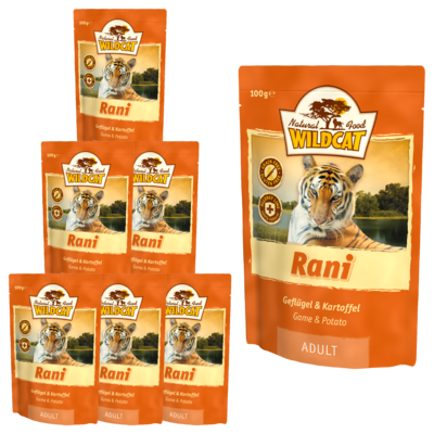 Wildcat Rani Nassfutter Pouches, 7 x 100 g