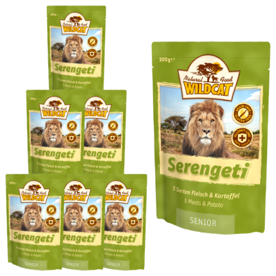 Wildcat Serengeti  Nassfutter Pouches, 7 x 100 g - Senior