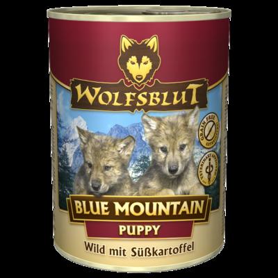 Wolfsblut Welpenfutter Dosenfutter Blue Mountain PUPPY, 12 x 395g