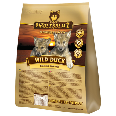 Wolfsblut Wild Duck Puppy Large Breed, 15 kg