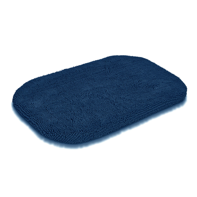 Wolters Cleankeeper ovale Hundematte, 55 x 35 x 3,5cm dunkelblau