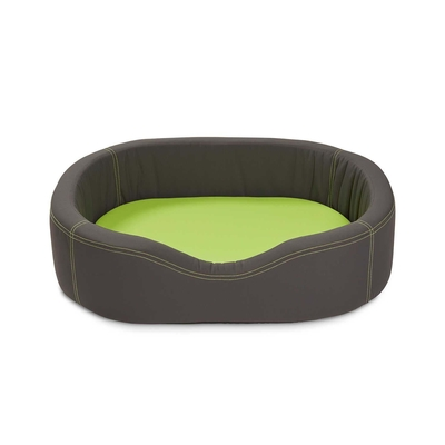WOLTERS VIP Lounge Nylon Hundebett, 100 x 80cm dunkelgrau/lime