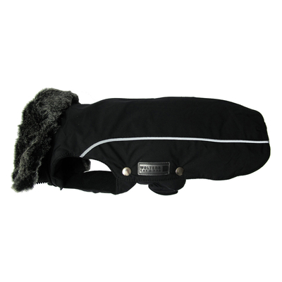 Wolters Winterjacke für Hunde Amundsen, Rücken 52cm, Brust 73-76 cm, schwarz