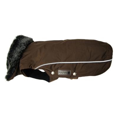 Wolters Winterjacke für Hunde Amundsen, Rücken 75cm, Brust 92-110 cm, kastanie