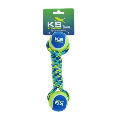Zeus K9 Seil gedreht mit 2 Tennisbälle