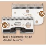R2 35/24 Zähne, Standard-Feinschur