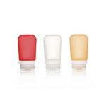 3er Pack, 74 ml transp./rot/orange