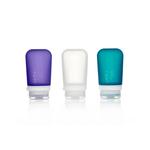 3er Pack, 74 ml transp./violett/türkis