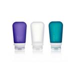 3er Pack, 100 ml transp./violett/türkis