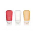 3er Pack, 100 ml transp./rot/orange