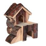 braun - Holz - 15 x 15 x 16 cm - Naturholz, 15 x 15 x 16 cm